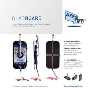 Vacuum lifter CLAD-BOARD in profile on our flyer