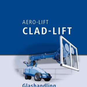 Cover of our brochure about glass handling vacuum lifter CLAD-LIFT