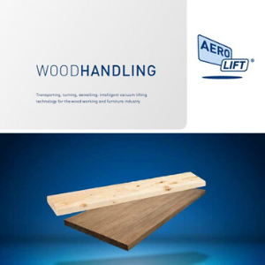 Cover of our flyer about vacuum lifters for wood handling