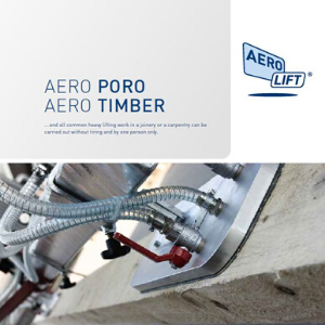 Cover of our brochure about AERO-PORO and AERO-TIMBER woodhandling