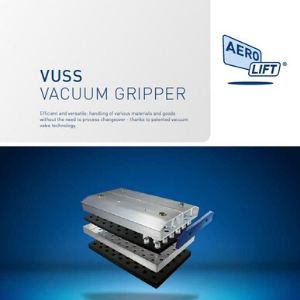Cover of our flyer of VUSS area gripper