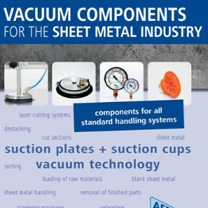 Cover of vacuum components for the sheet metal industry