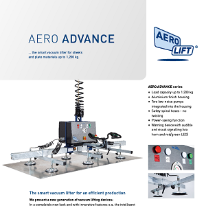 The vacuum lifter AERO ADVANCE on our flyer