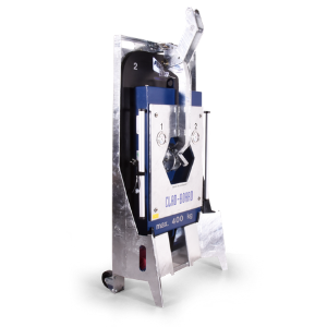 Construction site equipment vacuum lifter CLAD-BOARD in transport rack