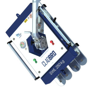 360° rotatable suspension with fine detent of the vacuum lifter CLAD-BRO