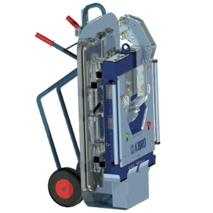 Mobile transport frame for uncomplicated transport of the vacuum lifter CLAD-BRO
